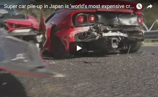 Car vids watch the wreckage of the world s most expensive for There are usually collisions in a motor vehicle crash